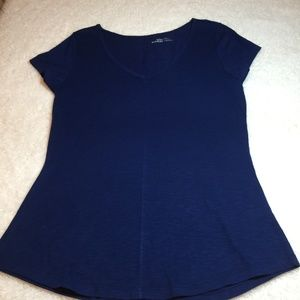 Nordstrom 14th & Union Deep V Neck Tunic Tee Lg P
